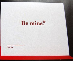 text, be mine, and die image