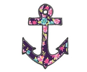 anchor, flowers, and overlay image