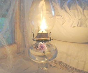 lamp, shabby chic, and light image