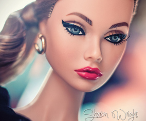 doll, fashion, and red lipstick image