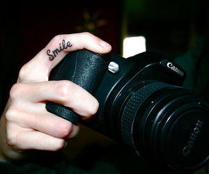 photography, tatoo, and smile image