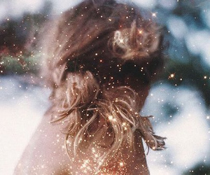 girl, hair, and glitter image