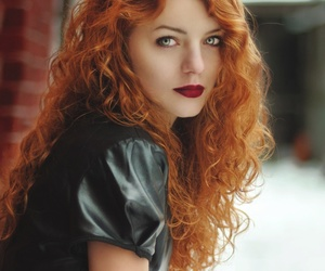 beautiful, eyes, and fire hair image