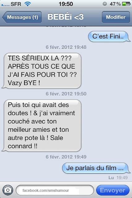 Sms Humour Message Iphone Drole Amour On We Heart It