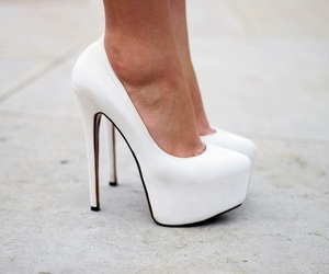 white and shoes heels pumps image