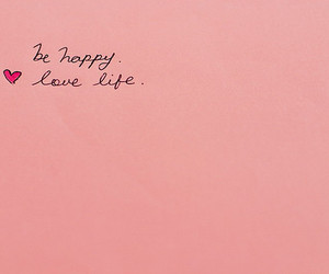love, happy, and pink image