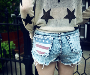 american, shorts, and denim image