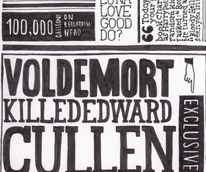 harry potter, edward cullen, and voldemort image