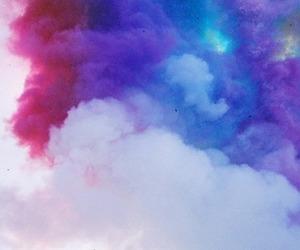 clouds, smoke, and sky image