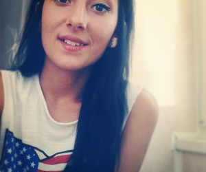 brunette, eyebrows, and usa image