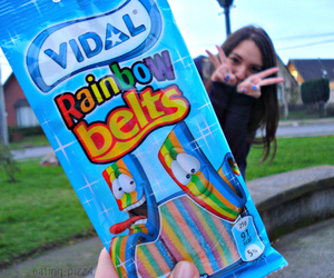 food, rainbow, and candy image