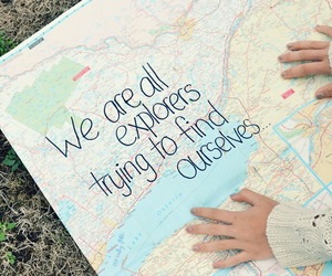 map, quote, and explore image
