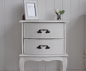 antique white lamp table and bedside tables image