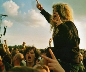 girl, concert, and festival image