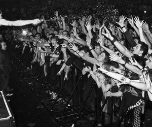 concert, hands, and crowd image