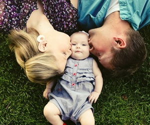 family, baby, and kiss image