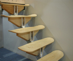 skate, skateboard, and stairs image