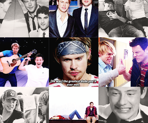 cory monteith, glee, and chord overstreet image