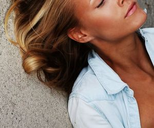 beautiful, blonde hair, and face image