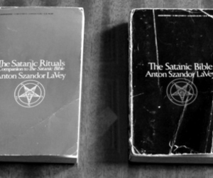 satan, book, and satanic image