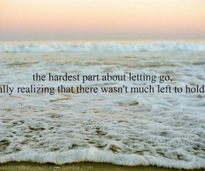 love, letting go, and quote image