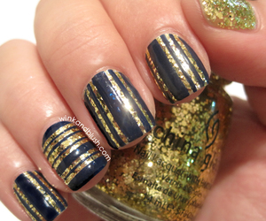 glitter, stripes, and tutorial image