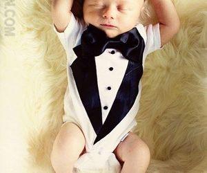 baby and tuxedo image