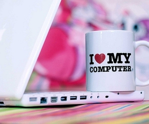 computer, love, and pink image
