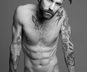 homme, peau, and tattoo image