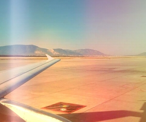 airplane, airport, and airplane window image