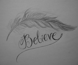 believe and feather image