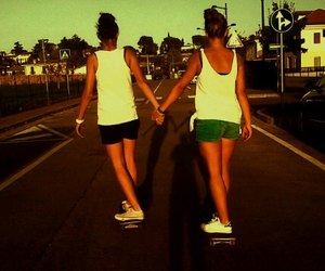 best friends, bff, and skate image