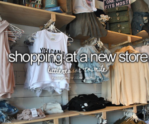 shopping, clothes, and new store image