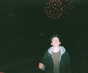 boy, fireworks, and hipster image