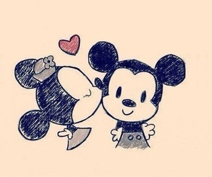 love, mickey, and minnie image