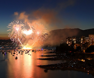 fireworks, city, and beautiful image