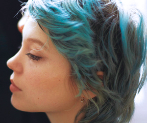 blue, hair, and Lea Seydoux image