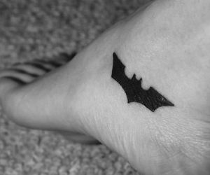 batman, black and white, and tatto image
