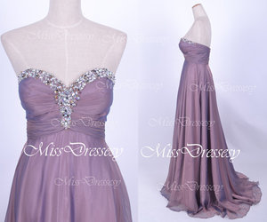 crystal, dress, and evening gown image