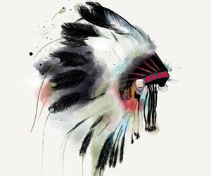 indian, feather, and love image