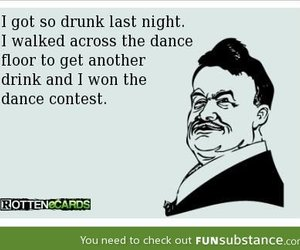 funny, dance, and drunk image
