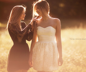 friends, girl, and dress image