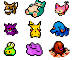 eevee, ditto, and snorlax image