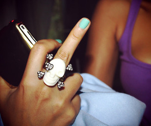 finger, fuck you, and girl image