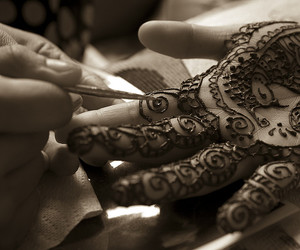 arabic, indian wedding, and indian bride image