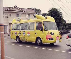 pikachu, bus, and pokemon image