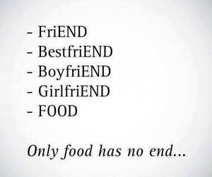 food, friends, and end image