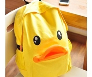 backpack and duck image