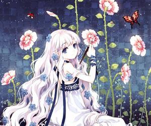 flowers, anime, and anime girl image