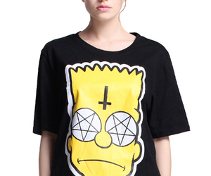 black, simpson, and t-shirt image